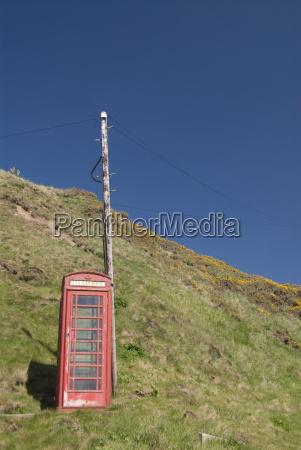 wydzielona skrzynka telefoniczna crovie highlands szkocja