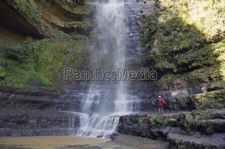 rappelling on juan curi waterfall adventure