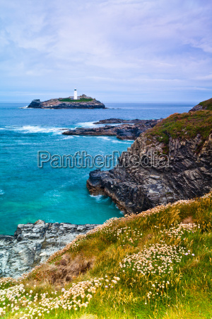 godrevy lighthouse cornwall england united kingdom