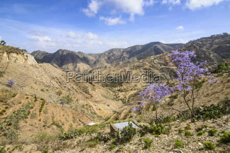 mountain scenery along the road from