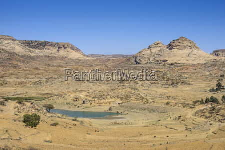 mountain landscape along the road from