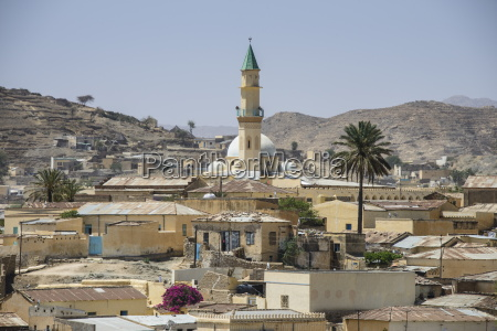 view over the town of keren