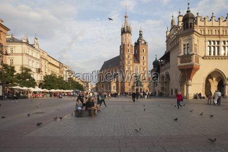 polska krakow stare miasto rynek glowny