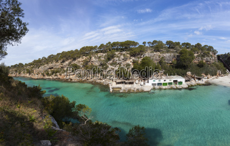 spain majorca view of house boat