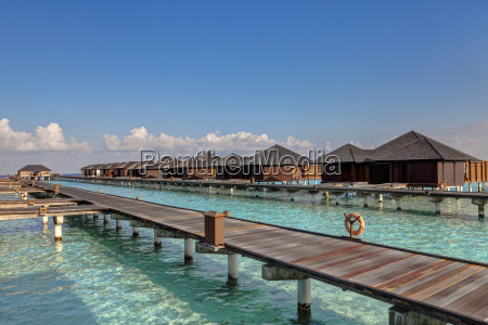 azja wodne bungalowy paradise island