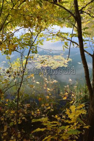 niemcy bawaria aschheim jesienia jeziora