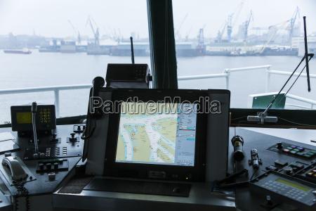 germany hamburg interior of containership at