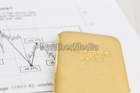 gold bar i gazeta finansowa