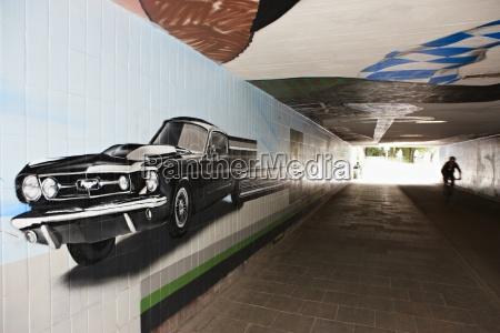 niemcy bawaria monachium graffiti w metrze