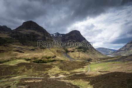 wielka brytania szkocja widok glen coe