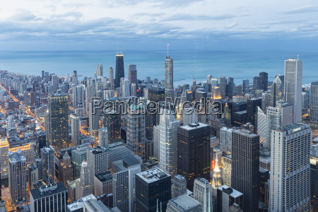 usa illinois chicago view from willis
