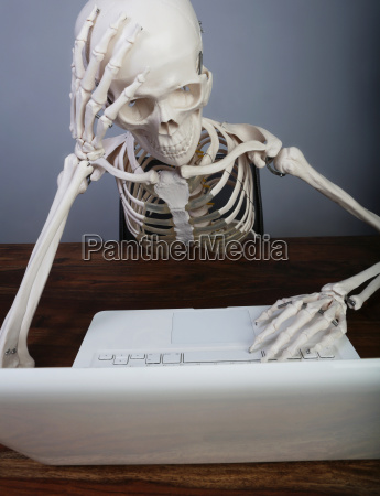 studio szkielet pracy na laptopie