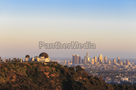 usa california los angeles skyline and