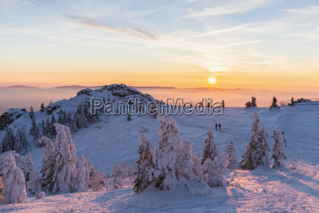 germany bavaria bohemian forest in winter