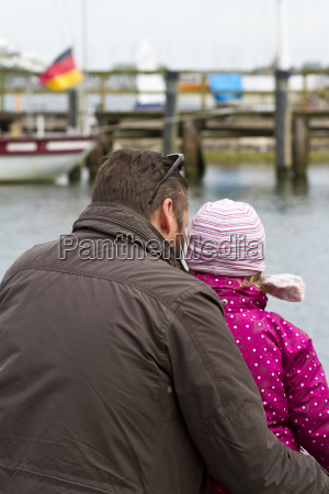germany rostock girl with her father