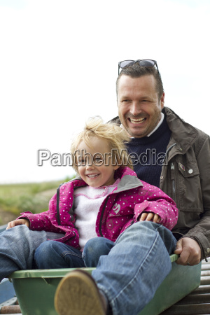 germany kiel girl with his father