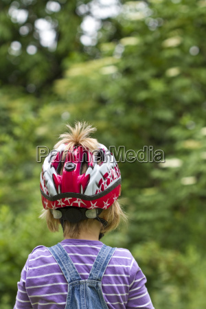 germany kiel girl wearing bicycle helmet