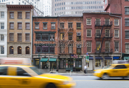 usa new york city manhattan yellow