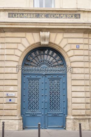 francja paryz wejscie do izby handlowej