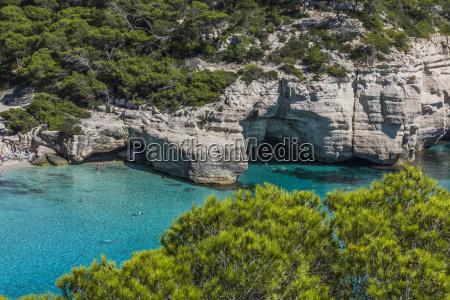 spain balearic islands menorca cala mitjana