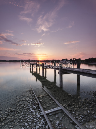 germany lake ammersee in the evening