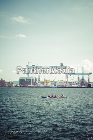 germany schleswig holstein kiel harbour rowing