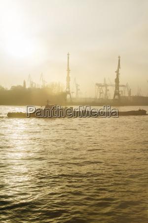 germany hamburg harbor facility and ship