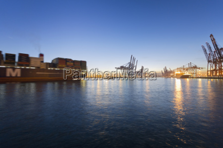germany hamburg parkhafen harbour elbe container