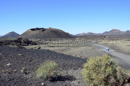 hiszpania widok na naturalny park wulkanu