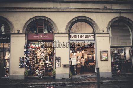 wlochy toskania florencja budynek z upominkami