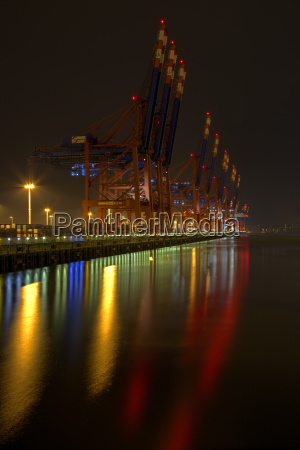 germany hamburg container harbour burchardkai at