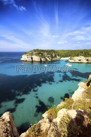 spain balearic islands menorca macarella cala