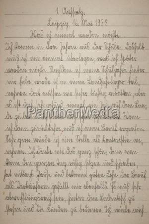 strona pisma recznego starej ksiazki cwiczen