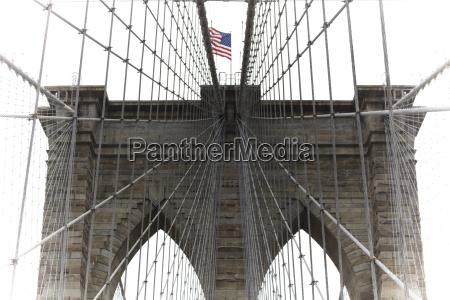 usa new york manhattan brooklyn bridge