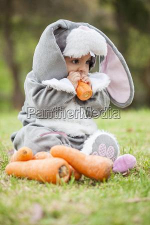 dziecko noworodka niemowle noworodek krolik halloween