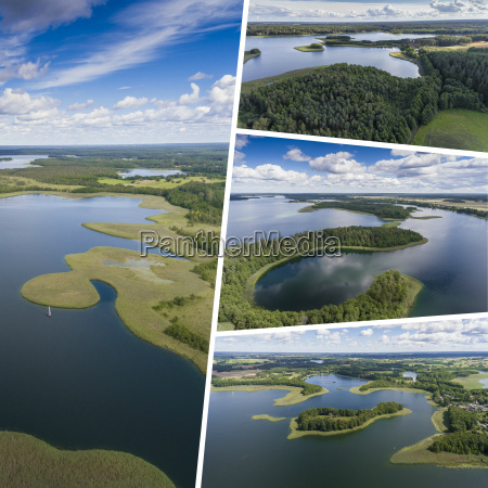 kolaz jeziora wigierskiego park narodowy suwalszczyk