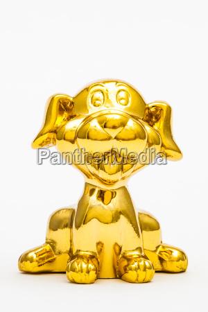 zwolniony zwierze statula pies zabawka zloty