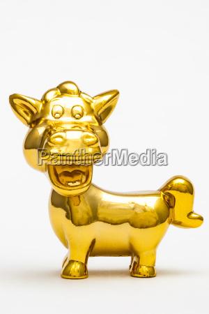 zwolniony kon zwierze statula zabawka zloty