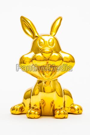 zwolniony zwierze statula zabawka zloty krolik