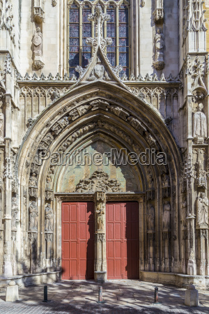 famous entrance gate at cathedral of