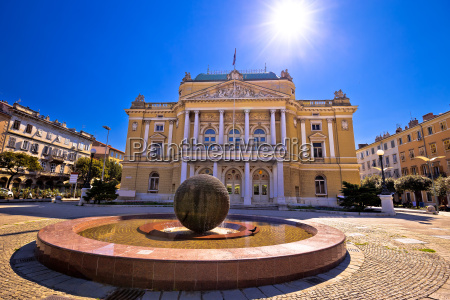 chorwacki, teatr, narodowy, w, rijece - 21744409