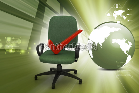 right mark sitting comfortable computer chair