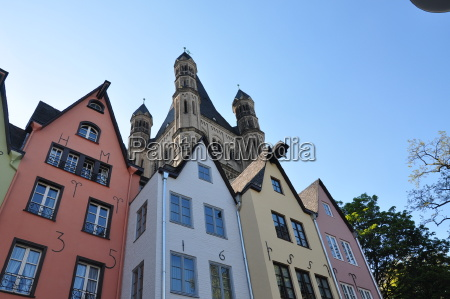 germany cologne colorful facades of