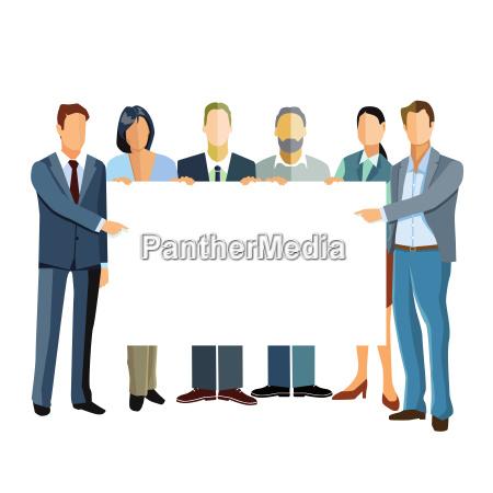 grupa biznesmenow prezentacji szablonu