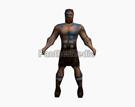 wojownik mysliwce angielski barbar muscle man