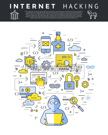 digital vector azul internet seguridad datos