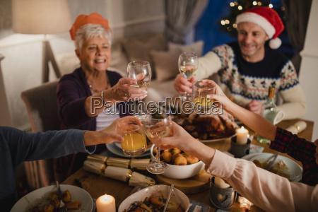 toast za kolacje chrismas