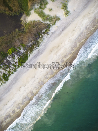 aerial view of rhode island beach