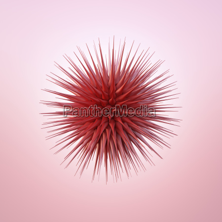 czerwony kolczasty kula 2c