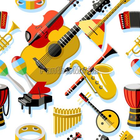 cyfrowe, wektora, żółty, czerwony, instrument, muzyczny - 22717545